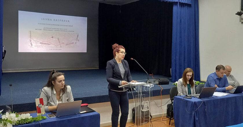 Održana javna rasprava o izgradnji brze ceste Mostar-Široki Brijeg- Grude-Granica RH