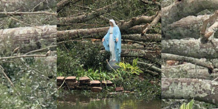 Marijin kip nakon razornog uragana ostao netaknut