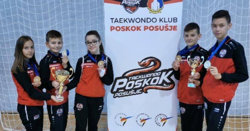 "Taekwondo klub ""Poskok"" Posušje u Livnu osvoji 5 zlatnih medalja"